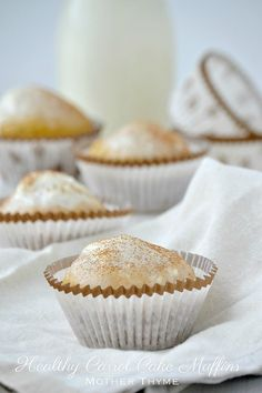 Healthy Carrot Cake Muffins #dessert #healthy