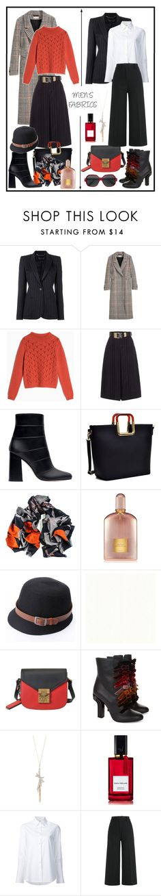 """""""MEN'S FABRICS!!!"""" by kskafida ❤ liked on Polyvore featuring Barbara Bui, Max&Co., Lost Ink, Zara, Dasein, Black, Tom Ford, MCM, Marco de Vincenzo and Alexis Bittar"""