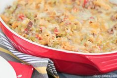 Queso Taco Pasta Bake - www.picky-palate.com #dinner #casserole #cheese