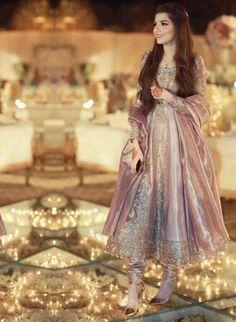 indian fashion Anarkali -- Click visit link to see Shadi Dresses, Pakistani Formal Dresses, Pakistani Wedding Outfits, Pakistani Wedding Dresses, Pakistani Dress Design, Bridal Outfits, Indian Dresses, Pakistani Mehndi Dress, Pakistani Fashion Party Wear