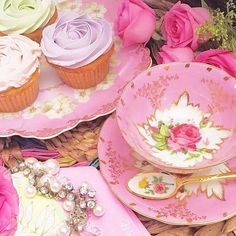 . Freshly Baked, Vintage China, High Tea, Tea Time, Delicious Desserts, Tea Party, Panna Cotta, Tea Cups, Dishes