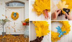 20 pomysłów jesienny wianek na drzwi