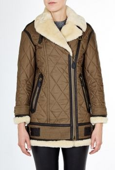 OVERSIZED QUILTED SHEARLING / LOOKBOOK By Burberry Brit