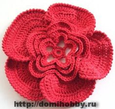 Original crochet flowers with charts