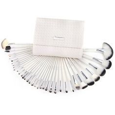36 PCS WHITE SWAN FULL MAKEUP BRUSHES SET WITH CASE *** Be sure to check out this awesome product.