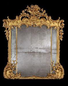A Fine Antique Giltwood Mirror (England)