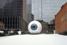 'Eye' Sculpture – Dallas, Texas - Atlas Obscura Dinner Club, Dallas Texas, Installation Art, Art Museum, Sculpting, Sculptures, Parties, Eyes, Fun