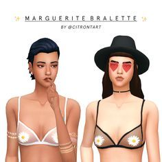 """MARGUERITE BRALETTE just a lil something i made for my shadows tutorial!! please enjoy :-) • comes in 12 neutral swatches from a palette I like to call """"the only colours I would wear in real life"""" •..."""