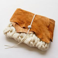 ニットクラッチバッグ-Leather-NA_OWT