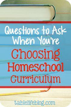 Choosing homeschool