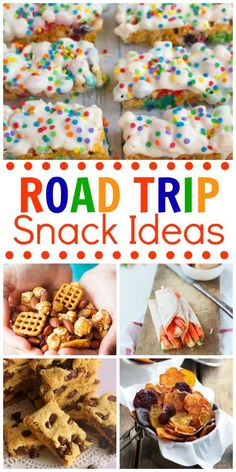 20+ Road Trip Snack Ideas - Great recipe ideas that are perfect for traveling!