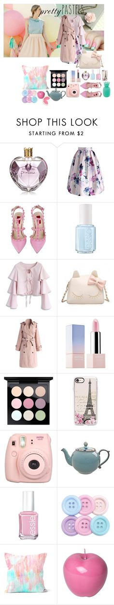 """Pretty Pastels"" by lilian-n1113 ❤ liked on Polyvore featuring Vera Wang, Chicwish, Valentino, Essie, Sephora Collection, MAC Cosmetics, Casetify, Fujifilm, Denby and Bitossi"
