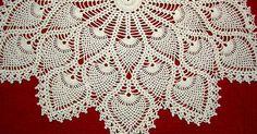 pineapple crochet | Pineapple crochet | Pinterest | Chair Backs, Doilies and Shawl
