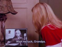 #friends awesome phoebe , wish me luck grandpa