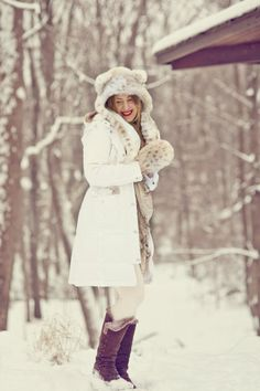 even photo shoots in the snow can be fun!