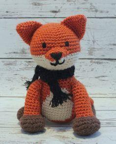 Crochet Fox Stuffed Animal Red Fox Amigurumi Plush by makinitmama