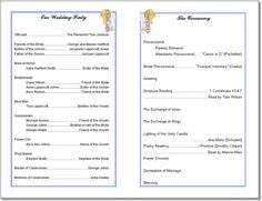 Wedding Program Templates Free | ... Wording-Program Samples ...
