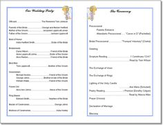 free printable wedding programs | Wedding Program Templates from Thinkwedding's Print Your Own Wedding ...