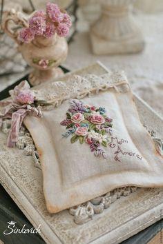 Купить Ароматы лета - саше, саше ароматическое, саше с вышивкой, вышивка, лён натуральный