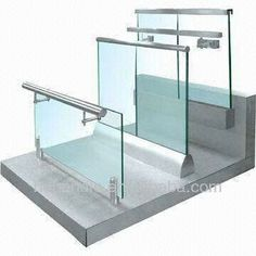balcony railing designs outdoor glass railing for stair handrail Balcony Railing Design, Glass Railing, Deck Railings, Fence Design, Channel Glass, Frameless Glass Balustrade, Brick Fence, Fence Stain, Stone Fence