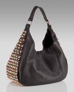 Romygold | Drew Rose Gold Stud-Trim Hobo  Ha! Karen your bag has been found!!!