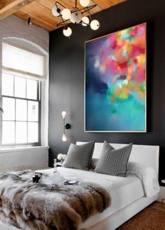 PLUVIUS NO. 1 by Corinne Melanie. Beautiful, captivating & uplifting Giclée art on fine art cotton canvas. Size: 75x100CM (30x40IN) Medium: Rich + Vibrant, archival quality, Giclée inks on ready to hang gallery canvas, with the option of adding a gorgeous external floating frame. ---------------------------------------------------- ABOUT THE ARTIST Corinne is a local Adelaide artist with a passion for colour and making the world a more beautiful place. Her use of colour and form to ...