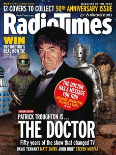 William Hartnell, Patrick Troughton, Jon Pertwee and Tom Baker star on the first four of 12 Radio Times Doctor Who covers Doctor Who Specials, Radio Times Magazine, Dr Who Companions, Emergency Doctor, Jon Pertwee, Second Doctor, Bbc Doctor Who, Dreams And Nightmares, Classic Monsters