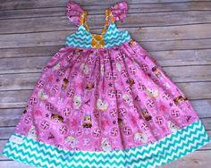 Girls Dress, Elsa Pink Shimmer, Birthday Attire, DressUp, Vacation, Teal, Pink, Yellow  nb, 3m, 6m, 12m, 18, 24m, 2, 3, 4, 5, 6, 7, 8, 10,12 by LillianKateCustom on Etsy