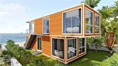 Family-Owned Movable Prefabricated Container House., Find Details about Prefabricated House, Modular House from Family-Owned Movable Prefabricated Container House. - Jiangxi HK Prefab Building Co. Shipping Container Home Designs, Cargo Container Homes, Storage Container Homes, Container Buildings, Container Architecture, Shipping Containers, Container Cabin, Sustainable Architecture, Architecture Design