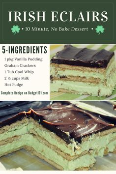 10-Minute Irish Eclair Bars- Budget101.com