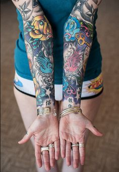 Colorful sleeves