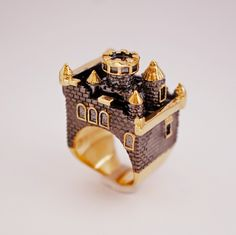 Gold Ruthenium Castle by MONVATOOLondon on Etsy