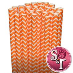 Chevron Paper Straws: Orange  & every paper straw option you could ever imagine!