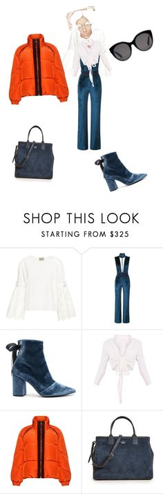 """""""70s inspiration"""" by pamela-martin-1 ❤ liked on Polyvore featuring Sea, New York, Galvan, self-portrait, Ganni, Kate Spade and Gucci"""