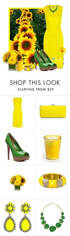 """""""Sunflowers..."""" by katrinavalenzula ❤ liked on Polyvore featuring Issa, Saks Fifth Avenue, Paris Hilton, Simpatico, Jayson Home, Juicy Couture and Kenneth Jay Lane"""