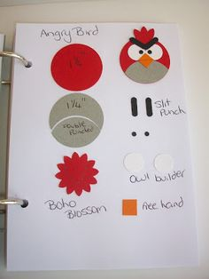 Angry Birds punch art bookmark - instructions Stampin With Rachael: Punch Art Class Cumpleaños Angry Birds, Festa Angry Birds, Paper Punch Art, Punch Art Cards, Arte Punch, Paper Toy, Craft Punches, Owl Punch, Bird Cards