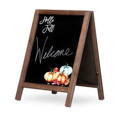 Hello Fall Chalkboard Sign Fall Chalkboard, Chalkboard Signs, Sandwich Board, Tx Usa, Autumn Cozy, Hello Autumn, Thanksgiving Decorations, Family Gatherings, Autumnal