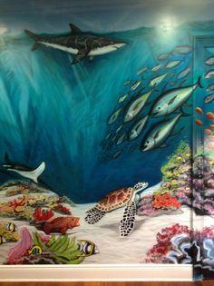 children's bedroom mural by Henryink