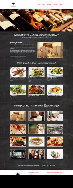 Gourmet - Restaurant WordPress Theme by 7Theme on Creative Market