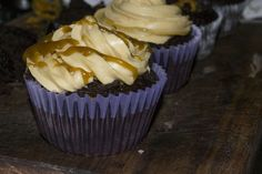CHOCOLATE CARAMEL SURPRISE CUPCAKE WITH BUTTERSCOTCH ICING… | Foodabella