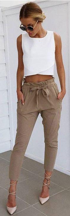 Beige diane trousers
