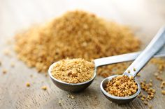 "Coconut Sugar – Healthy Sugar Alternative or a Big, Fat Lie? // If you're going to use coconut sugar, then use it sparingly. It is slightly ""less bad"" than regular sugar, but definitely not something you should eat every day. Go Fitness, Healthy Sugar Alternatives, Coconut Benefits, Palm Sugar, Food Trends, Coconut Sugar, Coconut Oil, Coconut Pecan, Raw Coconut"