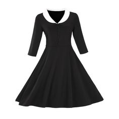 24.19$  Watch here - http://diwqk.justgood.pw/go.php?t=201007515 - Vintage Button Pin Up Dress