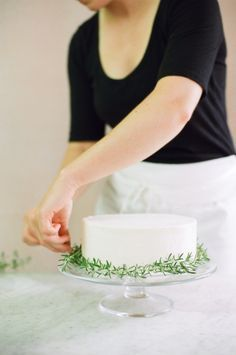 Dress your cake up with pretty herbs: http://www.stylemepretty.com/2015/08/09/15-ways-to-dress-up-your-wedding-cake/