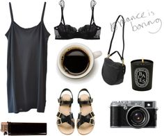 """romance is boring"" by nudded ❤ liked on Polyvore"