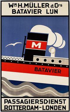 Wm H. Müller & Co's Batavier lijn. Passagiersdienst Rotterdam-Londen