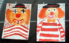 Clowns – painting with opaque colors – CARNİVAL Sea Creatures Drawing, Circus Crafts, Crafts For Kids, Arts And Crafts, Clowning Around, Carnival Birthday Parties, Circus Theme, Cartoon Characters, Fictional Characters