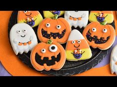 Today I'm going to show you how to decorate super cute Halloween Sugar Cookies using Wilton cookies cutter and sprinkles. You are going learn how to make ado. Candy Corn Cookies, Ghost Cookies, Gluten Free Sugar Cookies, Cut Out Cookies, Sugar Cookies Recipe, Decorating Tools, Cookie Decorating, Halloween Sugar Cookies, Favorite Cookie Recipe