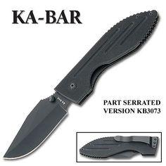 KaBar Warthog Folder II Black G10 Handle Black Blade ComboEdge KB3073 >>> You can find out more details at the link of the image.