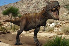 Tyrannosaure : image de synthèse d'un tyrannosaure sur L'Internaute Magazine